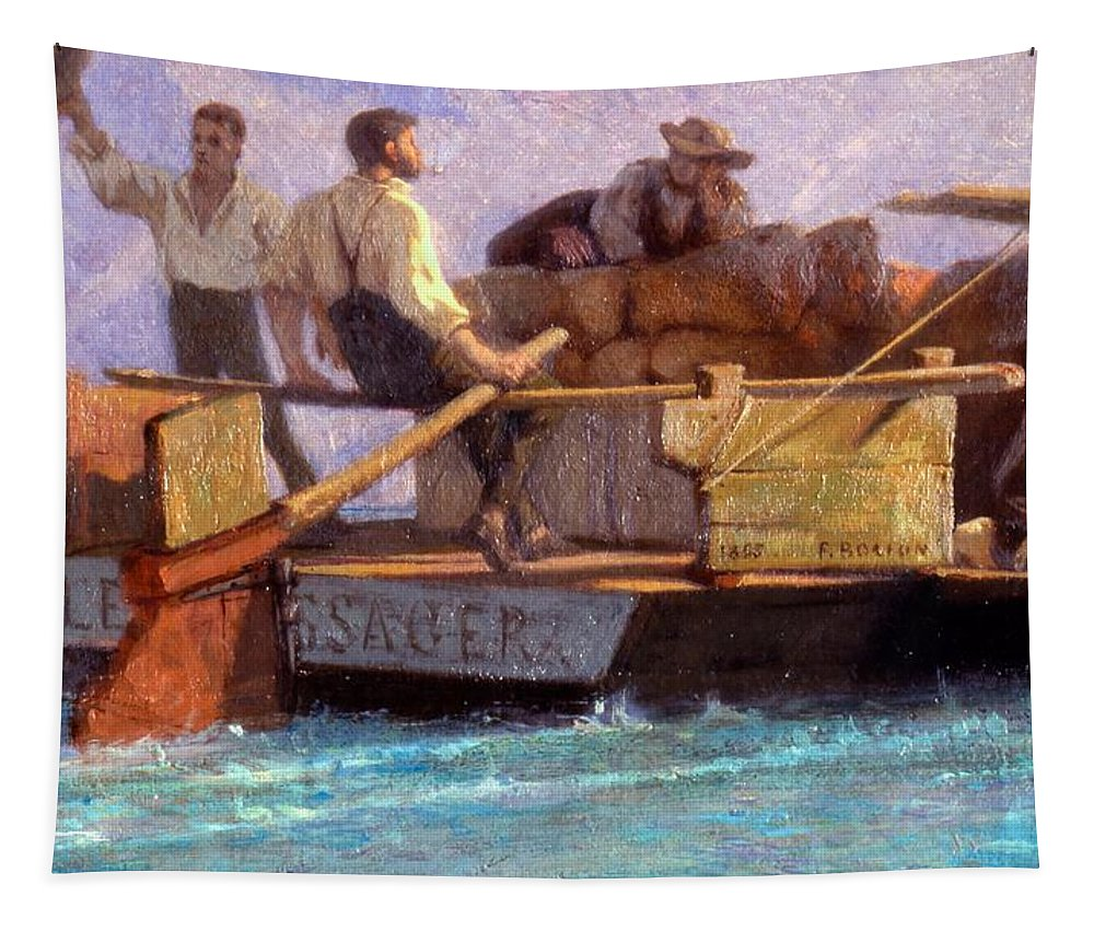 Luggage Tapestry featuring the painting Luggage Boat by F.L.D. Bocion