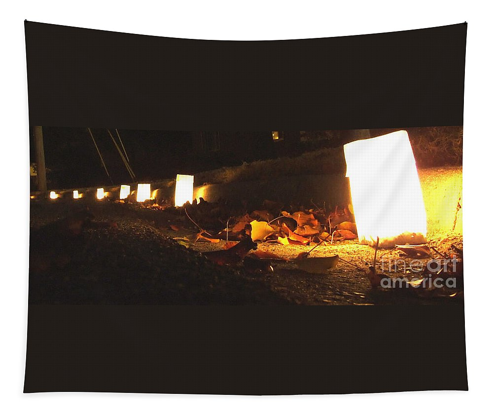 Candles Tapestry featuring the photograph Luminaries by Andrea Anderegg