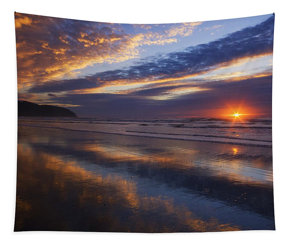 Oregon Tapestry featuring the photograph Luminous Harmony by Mark Kiver