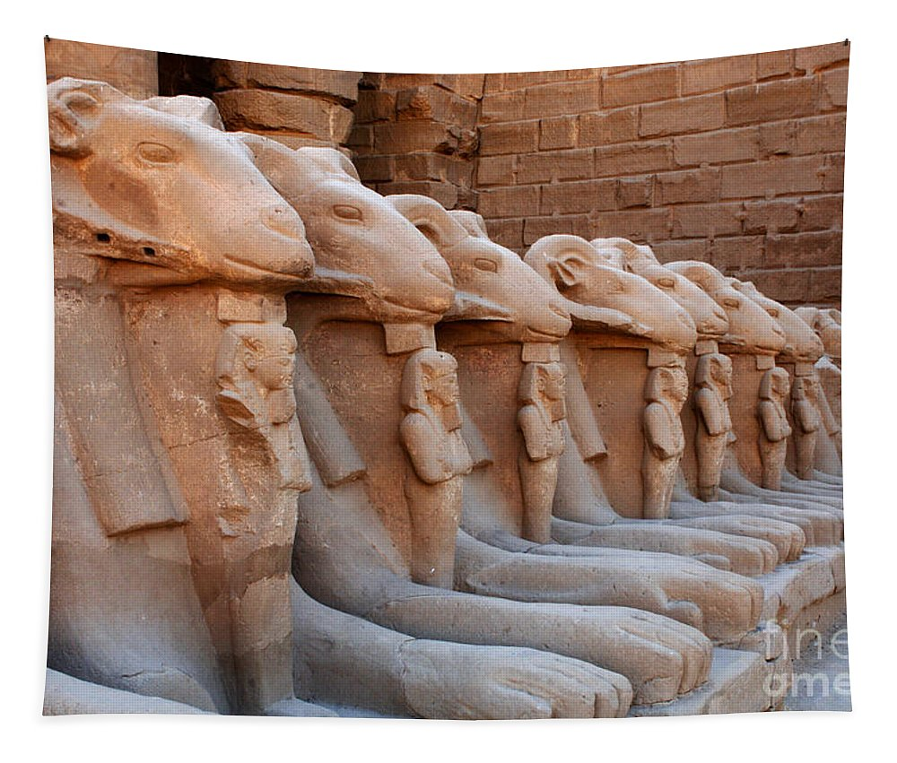 Luxor Temple Tapestry featuring the photograph Luxor Temple 3 by Bob Christopher