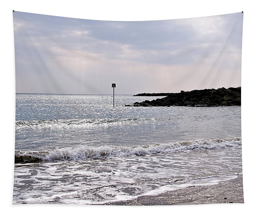 Lyme-regis Tapestry featuring the photograph Lyme Regis Seascape - March by Susie Peek