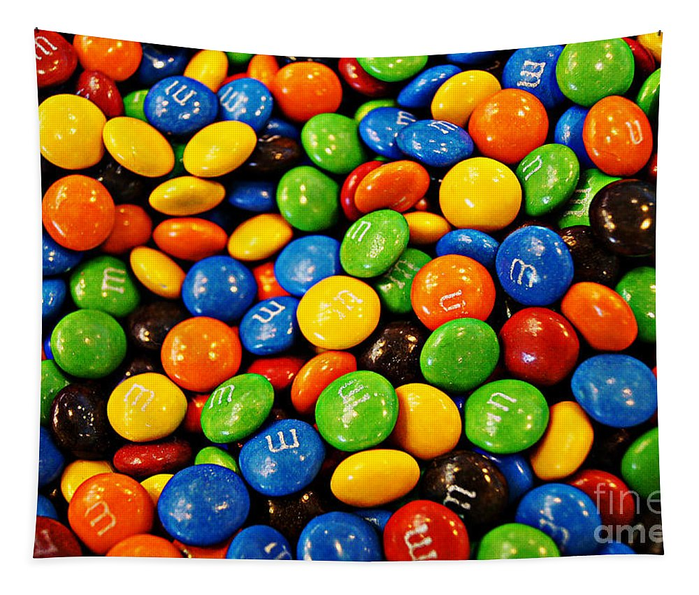 Chocolate Tapestry featuring the photograph M N Ms by Ben Yassa