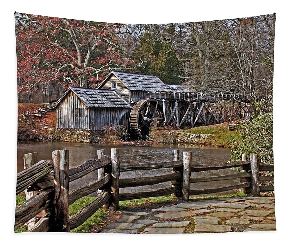 Meadows Of Dan Tapestry featuring the photograph Mabry Mill 2 by Suzanne Stout