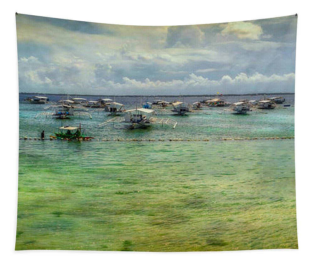 Bohol Tapestry featuring the photograph Mactan Island Bay by Adrian Evans