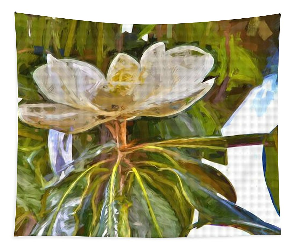 Magnolia Tapestry featuring the photograph Magnolia White by Alice Gipson