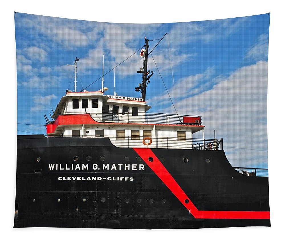Nautical Tapestry featuring the photograph Majestic Mather by Frozen in Time Fine Art Photography
