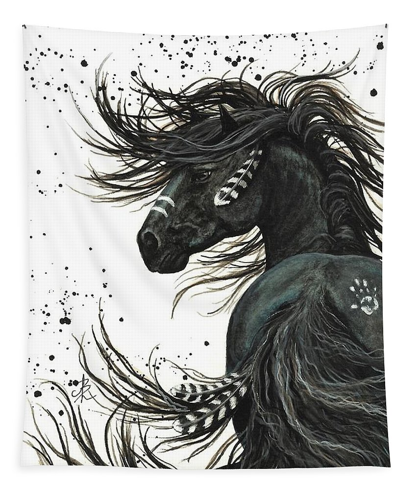 Mm65 Tapestry featuring the painting Majestic Spirit Horse I by AmyLyn Bihrle