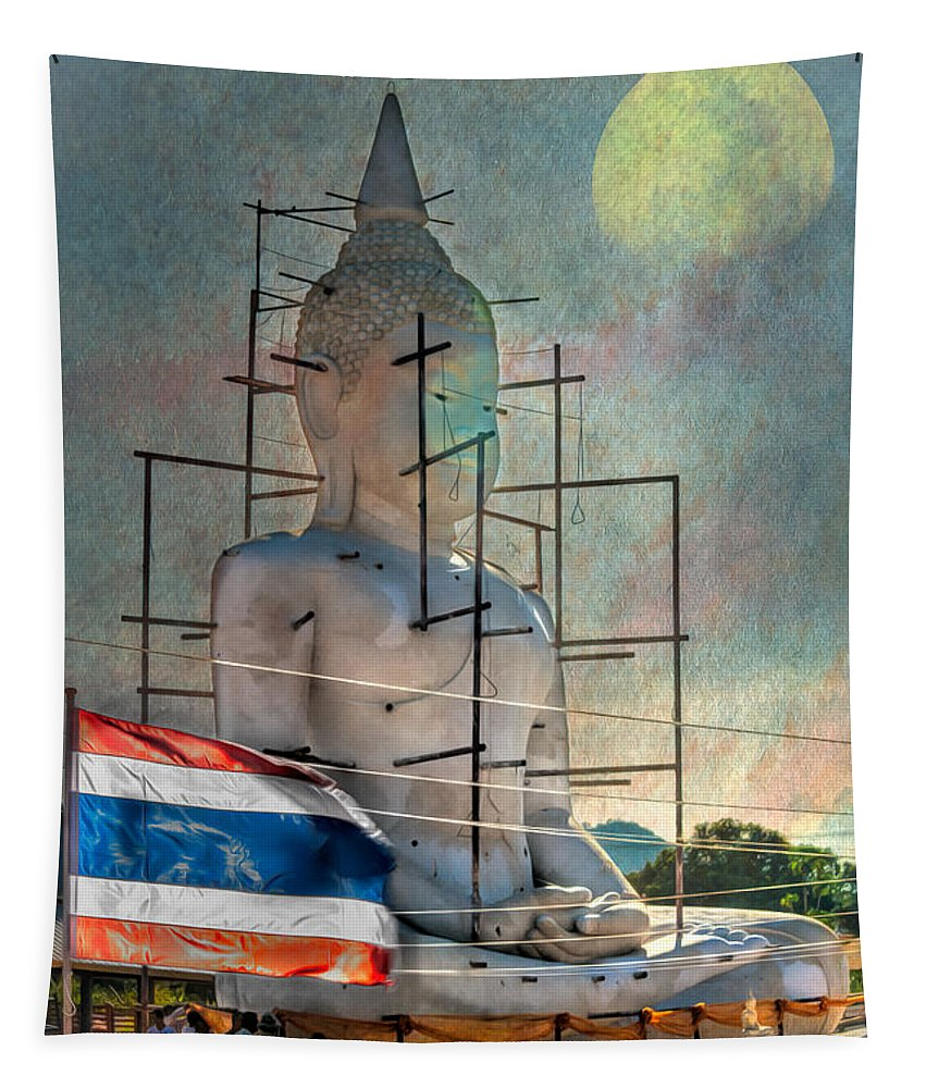 Hdr Tapestry featuring the photograph Making Buddha by Adrian Evans