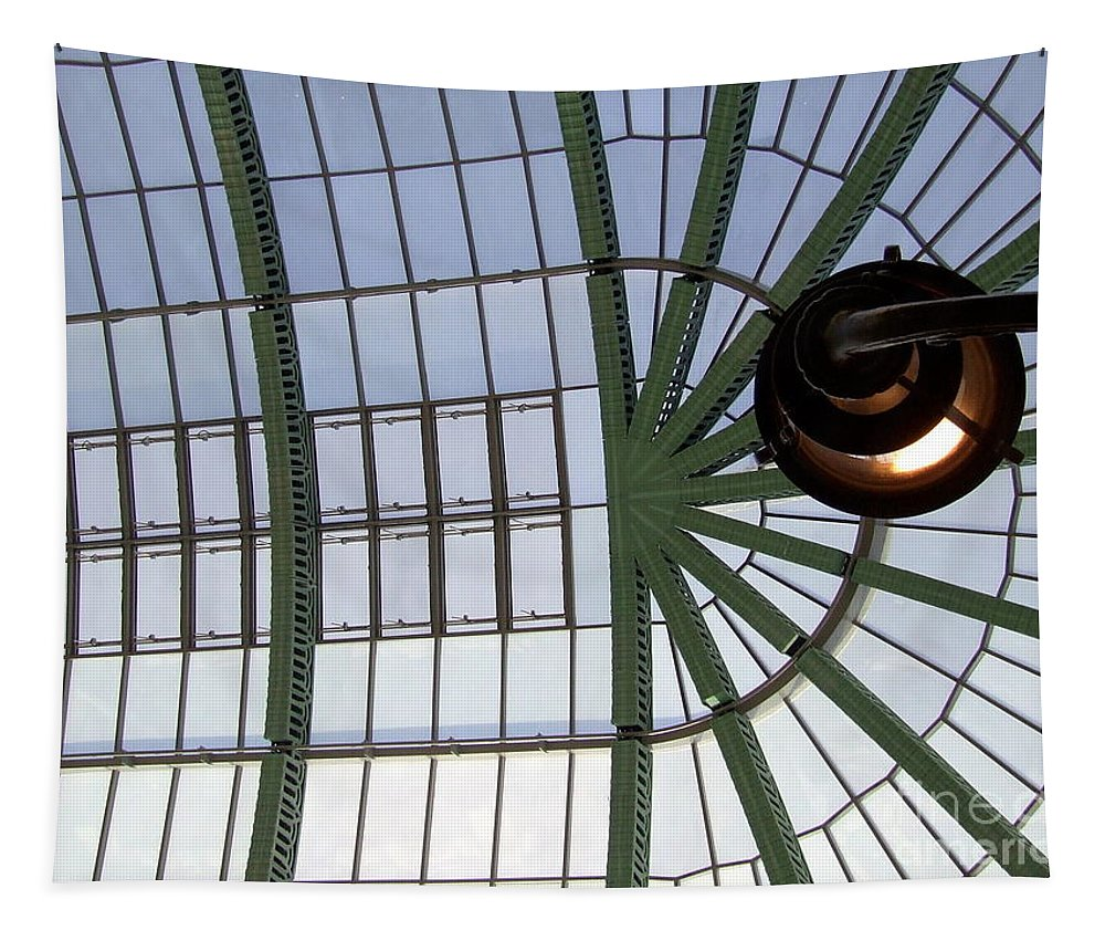 Skylight Tapestry featuring the photograph Mall Of Emirates Skylight by Andrea Anderegg
