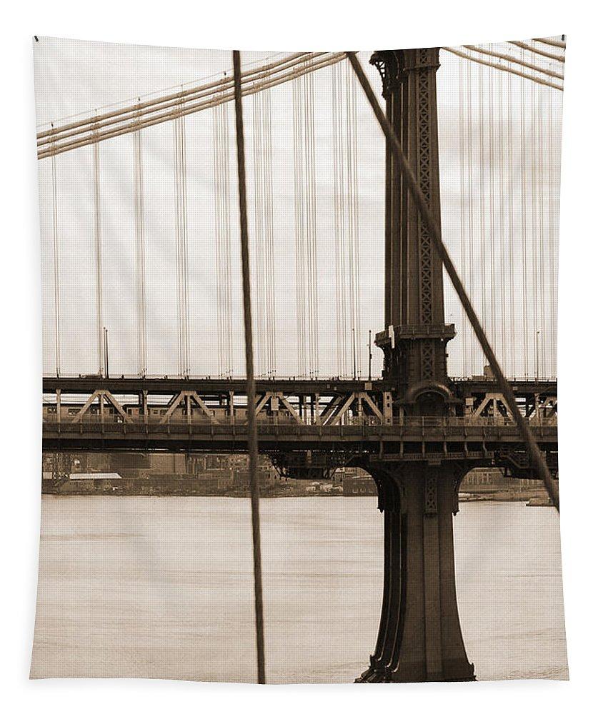 Manhattan Bridge Tapestry featuring the photograph Manhattan Bridge by RicardMN Photography