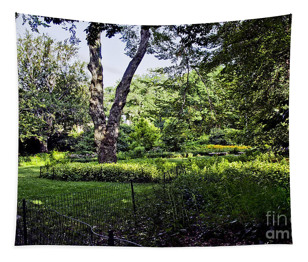 Carl Schurz Tapestry featuring the photograph Manhattan Peace by Madeline Ellis