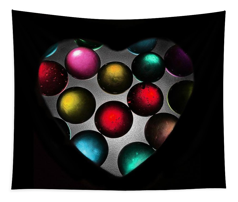 Marble Tapestry featuring the photograph Marble Heart by Marianna Mills