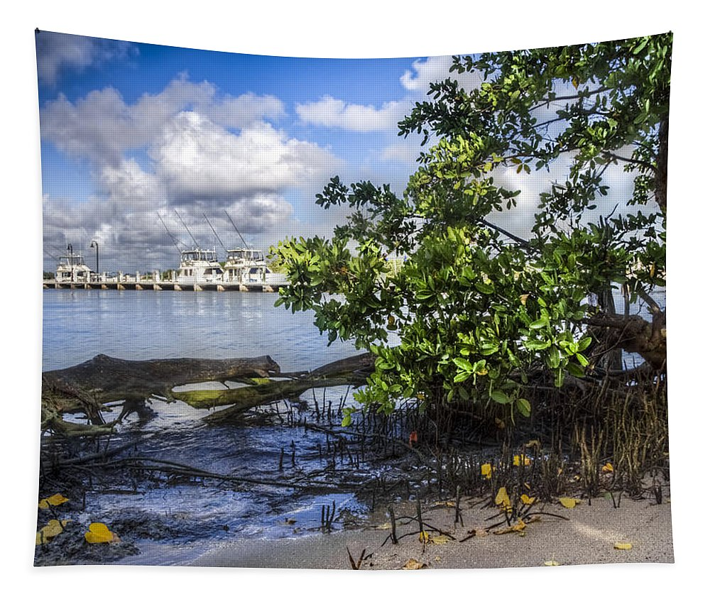 Boats Tapestry featuring the photograph Marina At The Inlet by Debra and Dave Vanderlaan