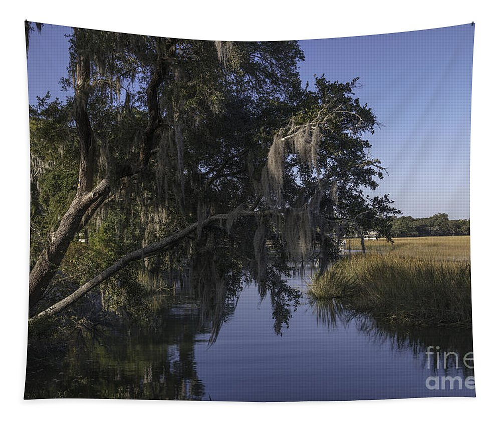 Lowcountry Tapestry featuring the photograph Marsh Creek by Dale Powell