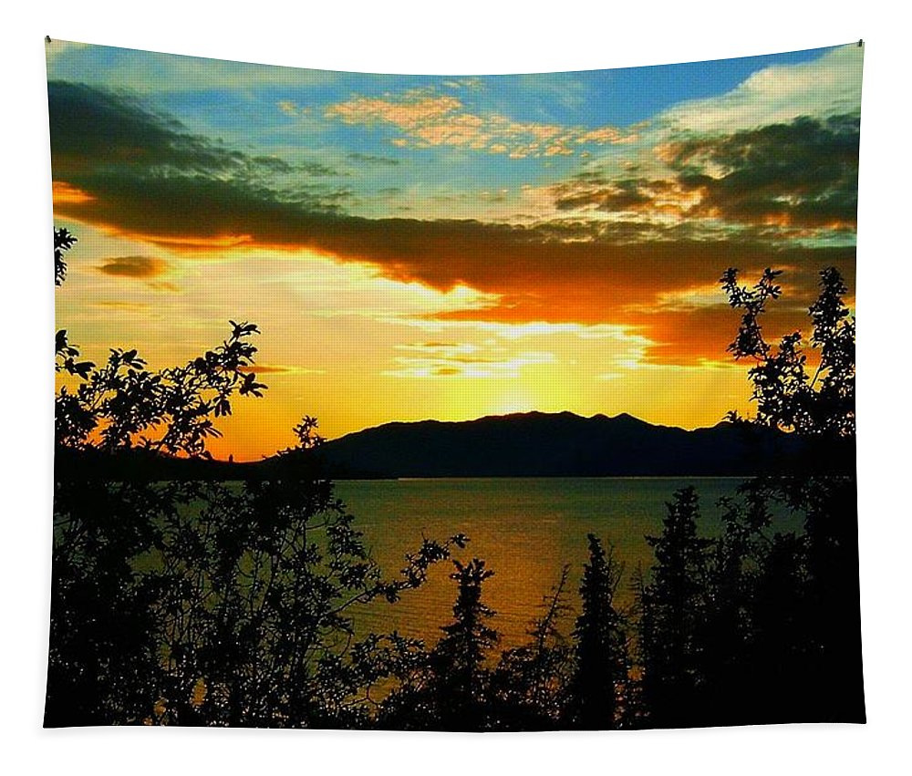 North America Tapestry featuring the photograph Marsh Lake - Yukon by Juergen Weiss