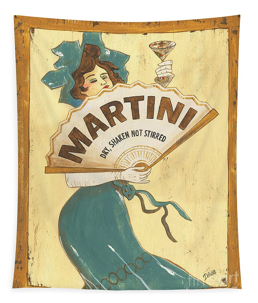 Martini Tapestry featuring the painting Martini dry by Debbie DeWitt