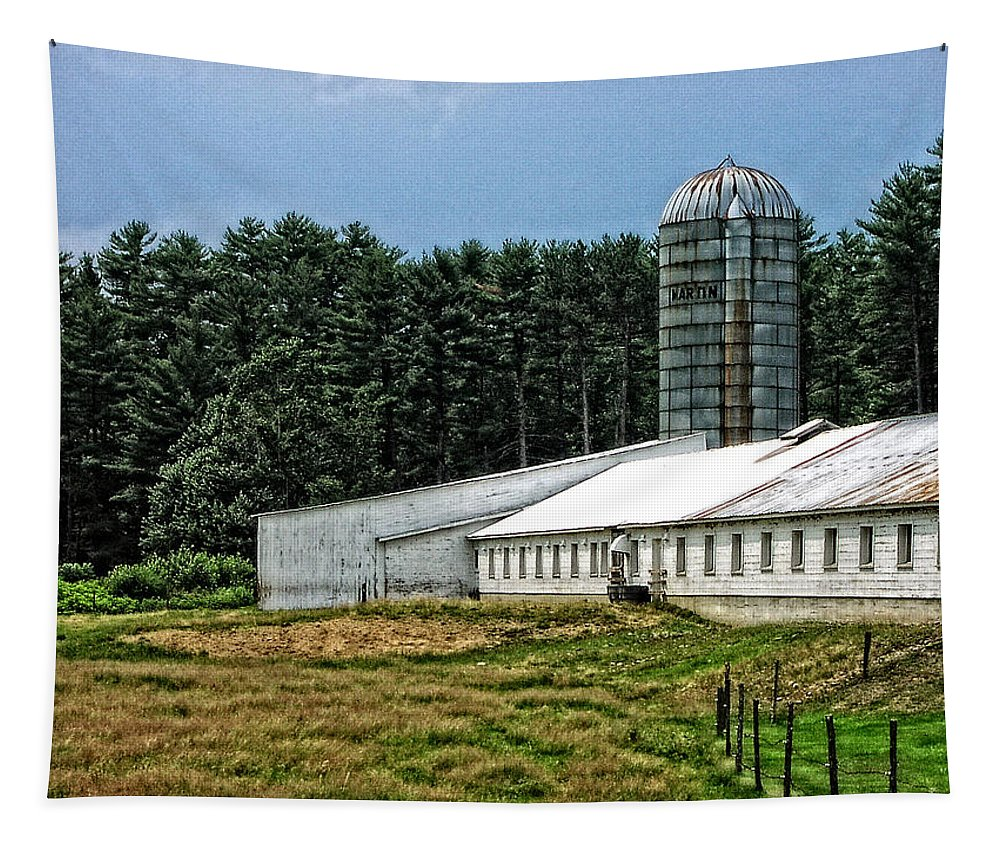 Landscape Tapestry featuring the photograph Martin's Farm by Mike Martin