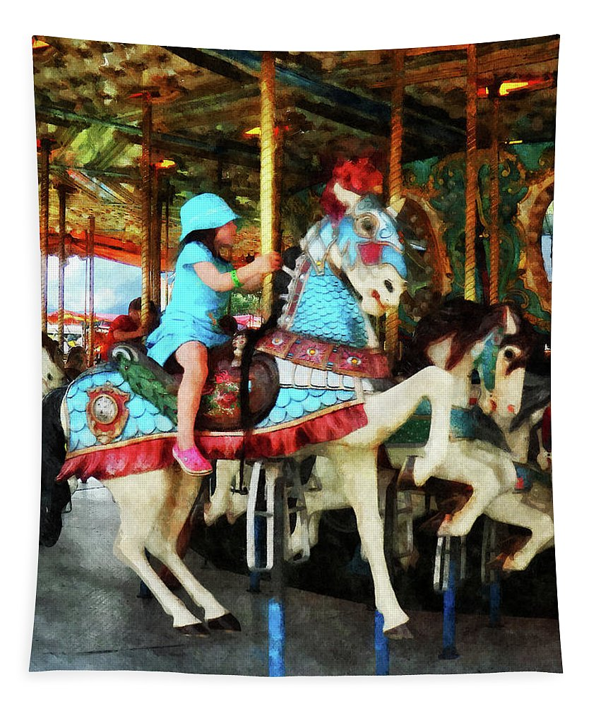 Carnival Tapestry featuring the photograph Matching Outfits by Susan Savad