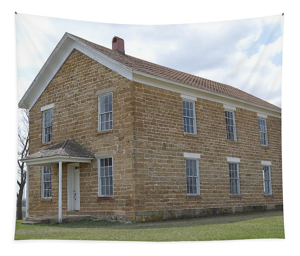 Schoolhouse Tapestry featuring the photograph Maysville Schoolhouse by Bonfire Photography