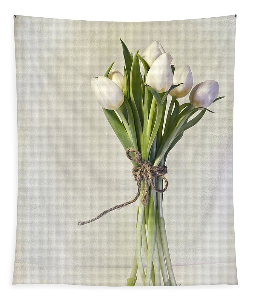 Cream Tapestry featuring the photograph Mazzo by Priska Wettstein