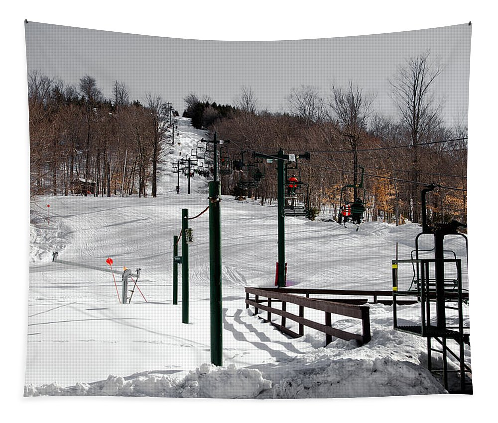 Mccauley Mountain Ski Area Tapestry featuring the photograph Mccauley Mountain Ski Area Vi- Old Forge New York by David Patterson