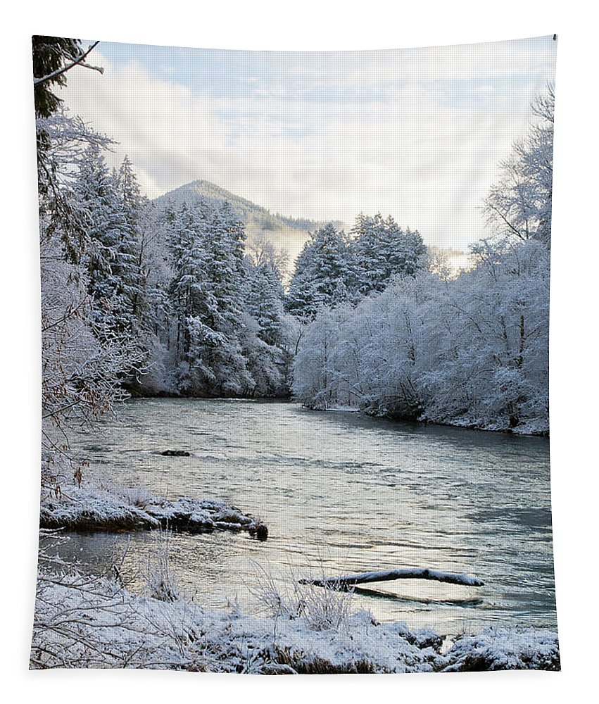 River Tapestry featuring the photograph Mckenzie River by Belinda Greb