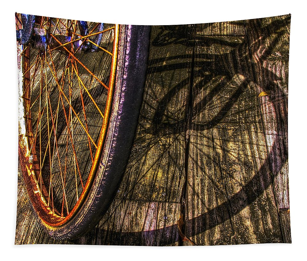 Appalachia Tapestry featuring the photograph Me And My Shadow by Debra and Dave Vanderlaan