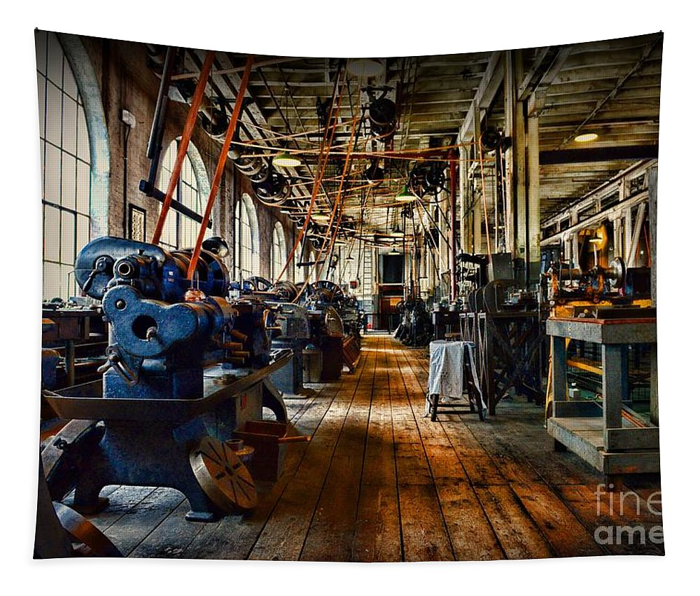 Paul Ward Tapestry featuring the photograph Mechanical Works by Paul Ward