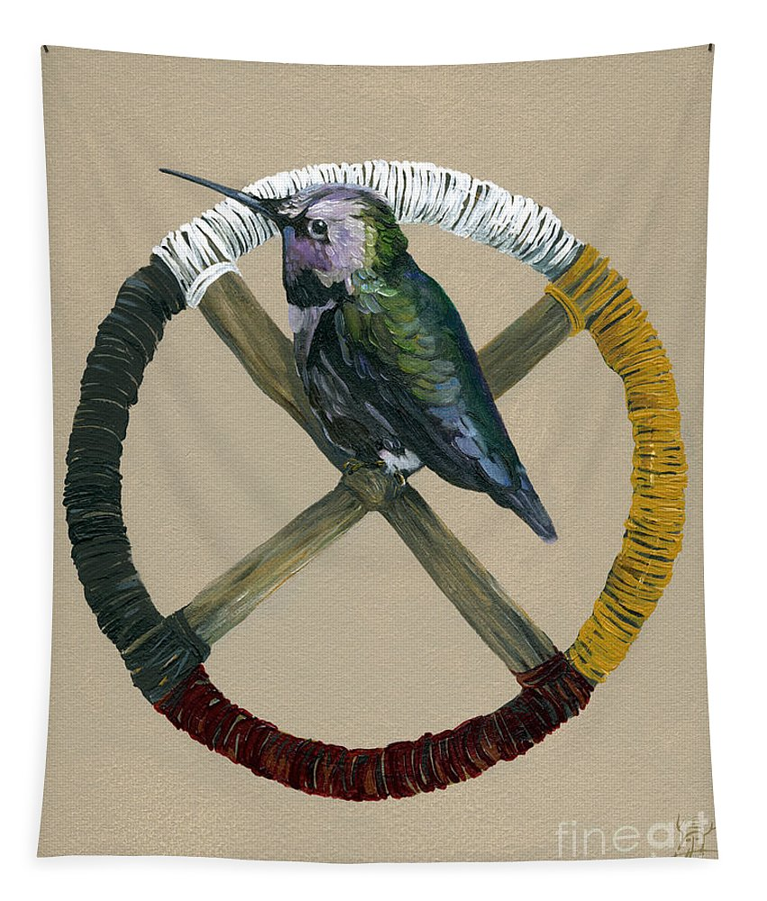 Medicine Wheel Tapestry featuring the painting Medicine Wheel by J W Baker