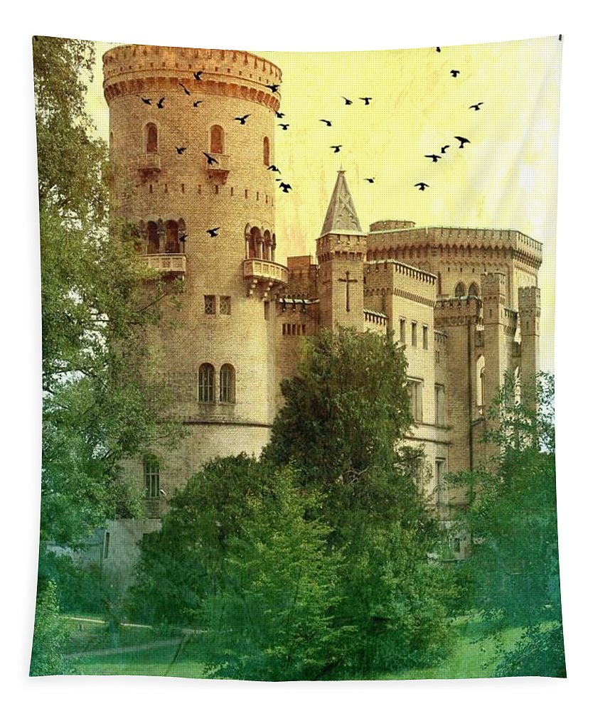 Castle Tapestry featuring the photograph Medieval Castle - Old World by Carol Groenen