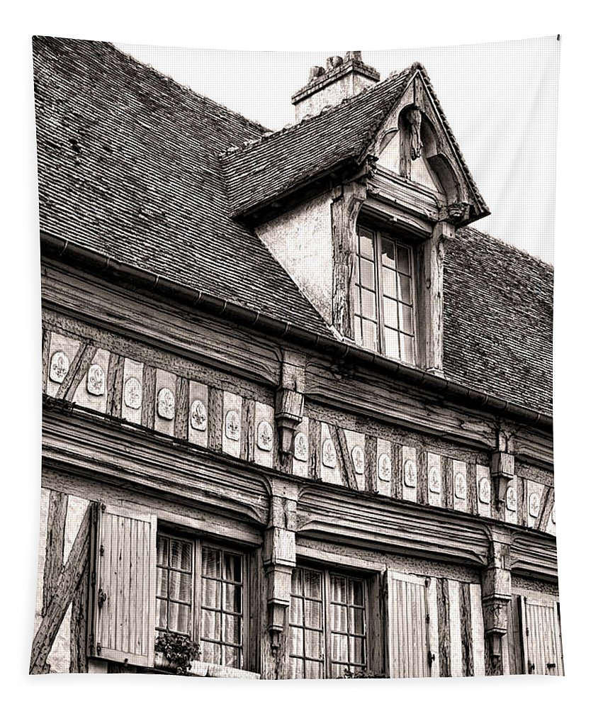 France Tapestry featuring the photograph Medieval House by Olivier Le Queinec