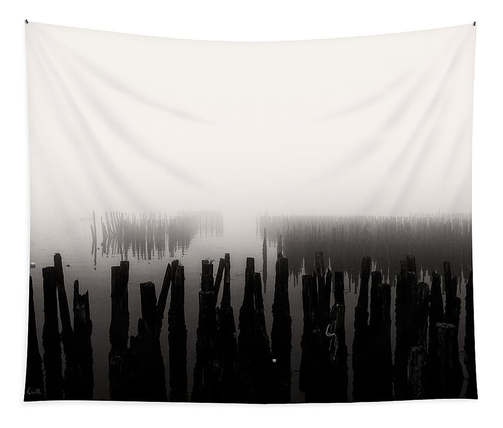 Seascape Tapestry featuring the photograph Memories And Fog by Bob Orsillo