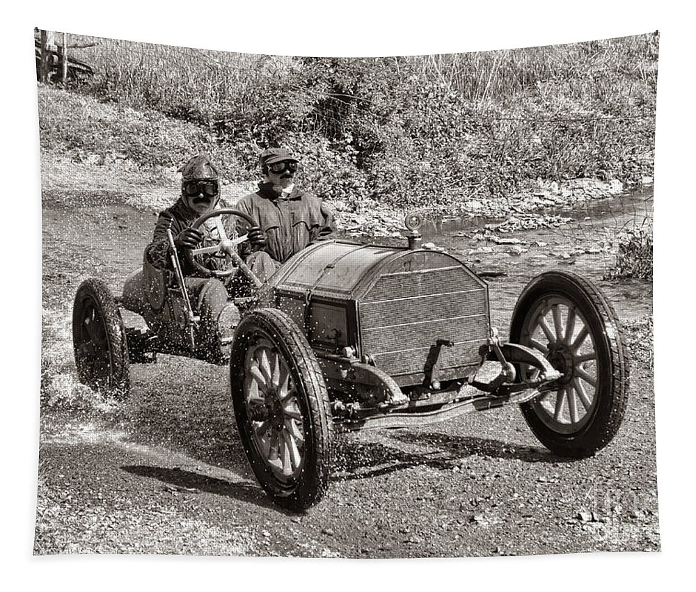 1912 Tapestry featuring the photograph Mercer Raceabout by Olivier Le Queinec