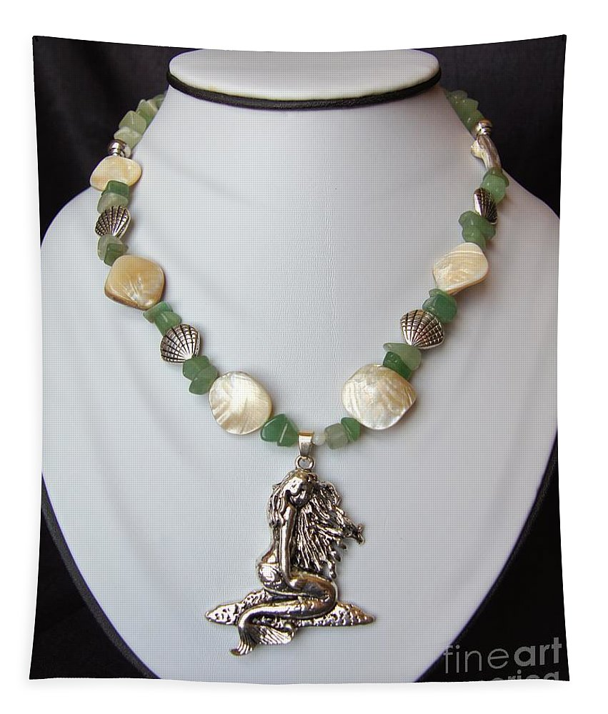Necklace Tapestry featuring the jewelry Mermaid Necklace by Megan Cohen