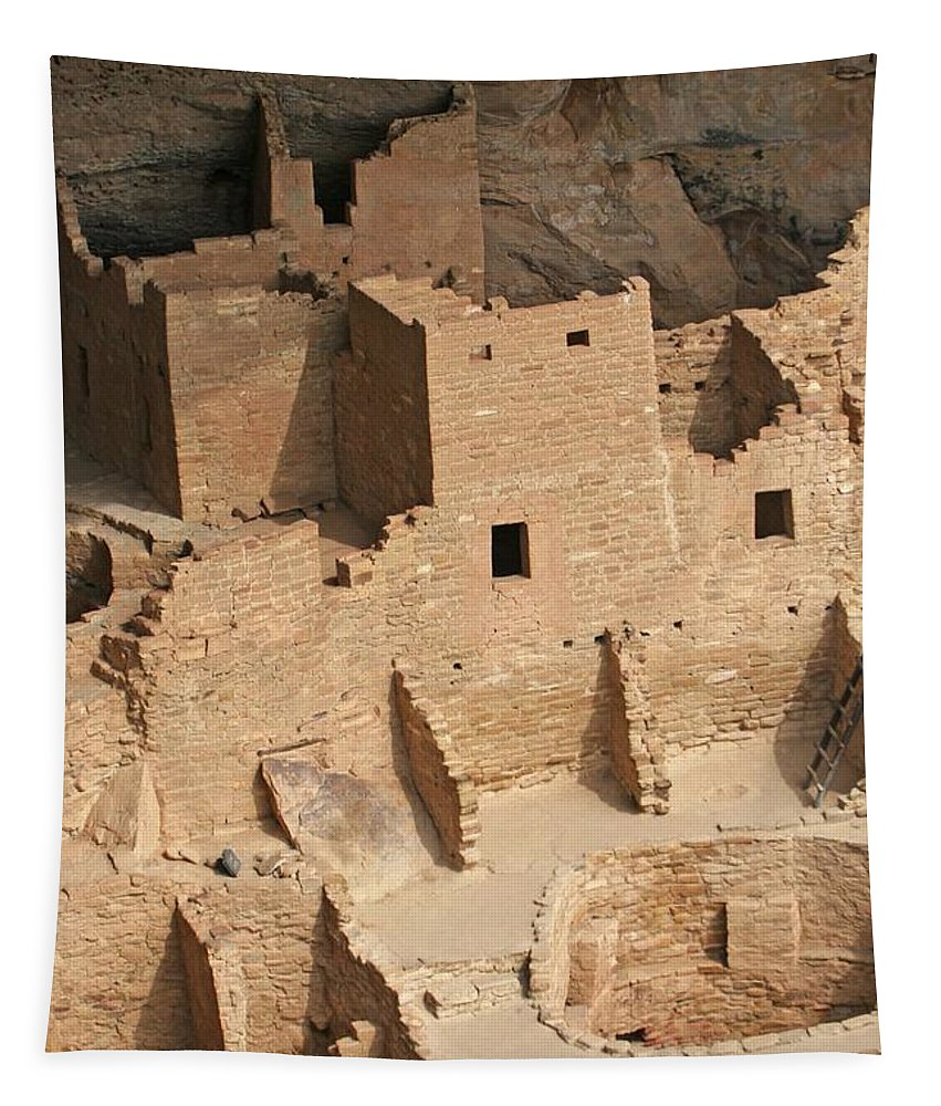 Mesa Verde Ruins Tapestry featuring the photograph Mesa Verde Ruins by Tom Janca