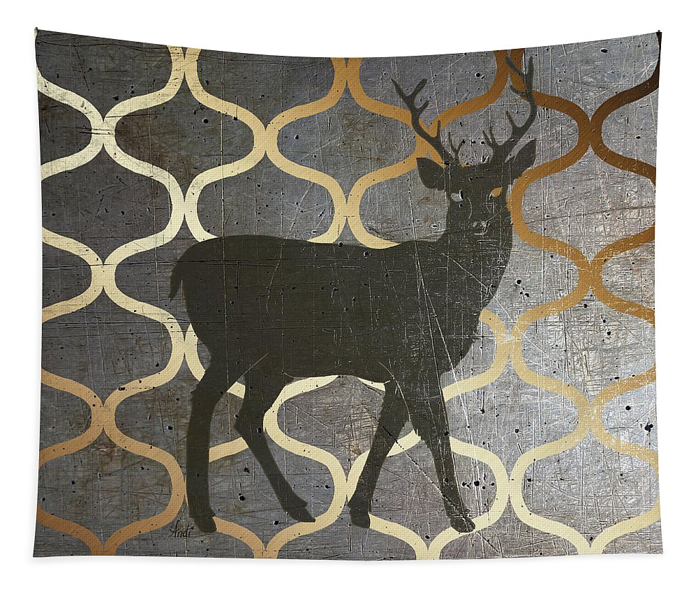 Rustic Tapestry featuring the digital art Metallic Nature I by Andi Metz