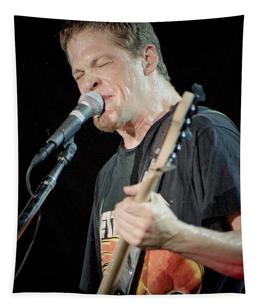 Metallica Tapestry featuring the photograph Metallica 96-jason-013 by Timothy Bischoff