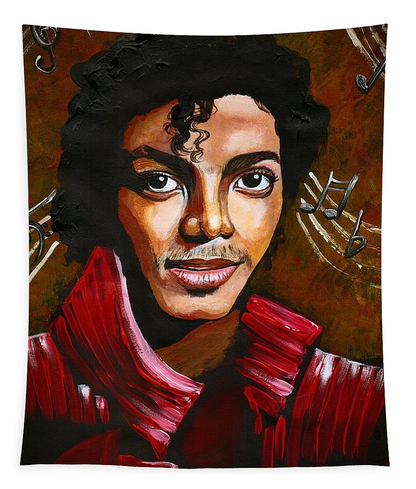Music Tapestry featuring the photograph Michael Jackson by Artist RiA