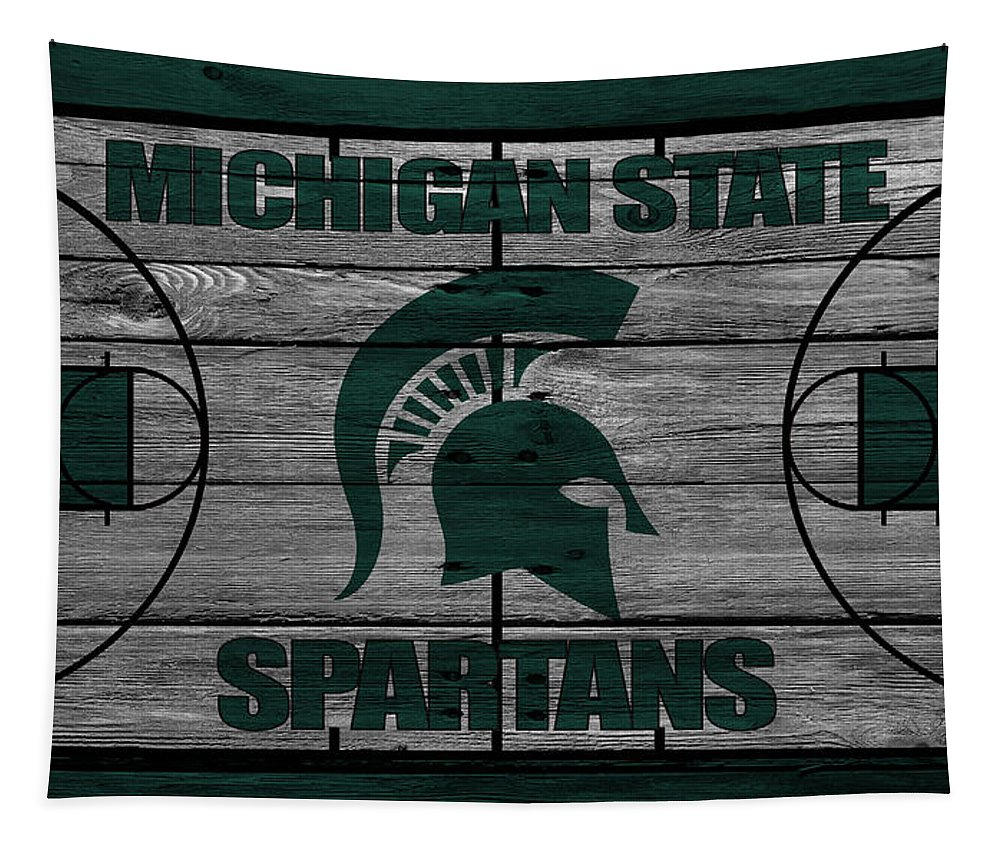 Spartans Tapestry featuring the photograph Michigan State Spartans by Joe Hamilton