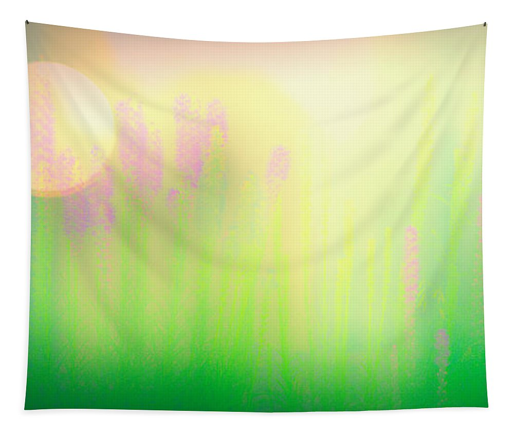 Flower Tapestry featuring the photograph Mid Summer Morning by Bob Orsillo