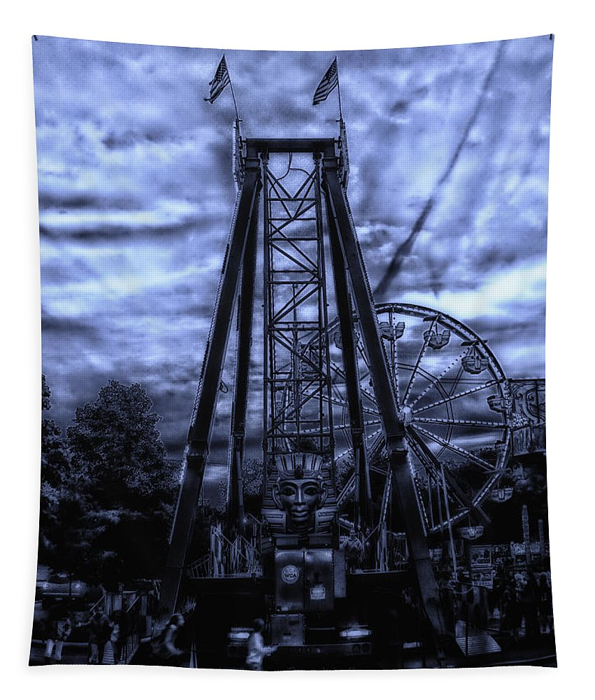 Surrealist Tapestry featuring the photograph Midnight At The Carnival by Thomas Woolworth