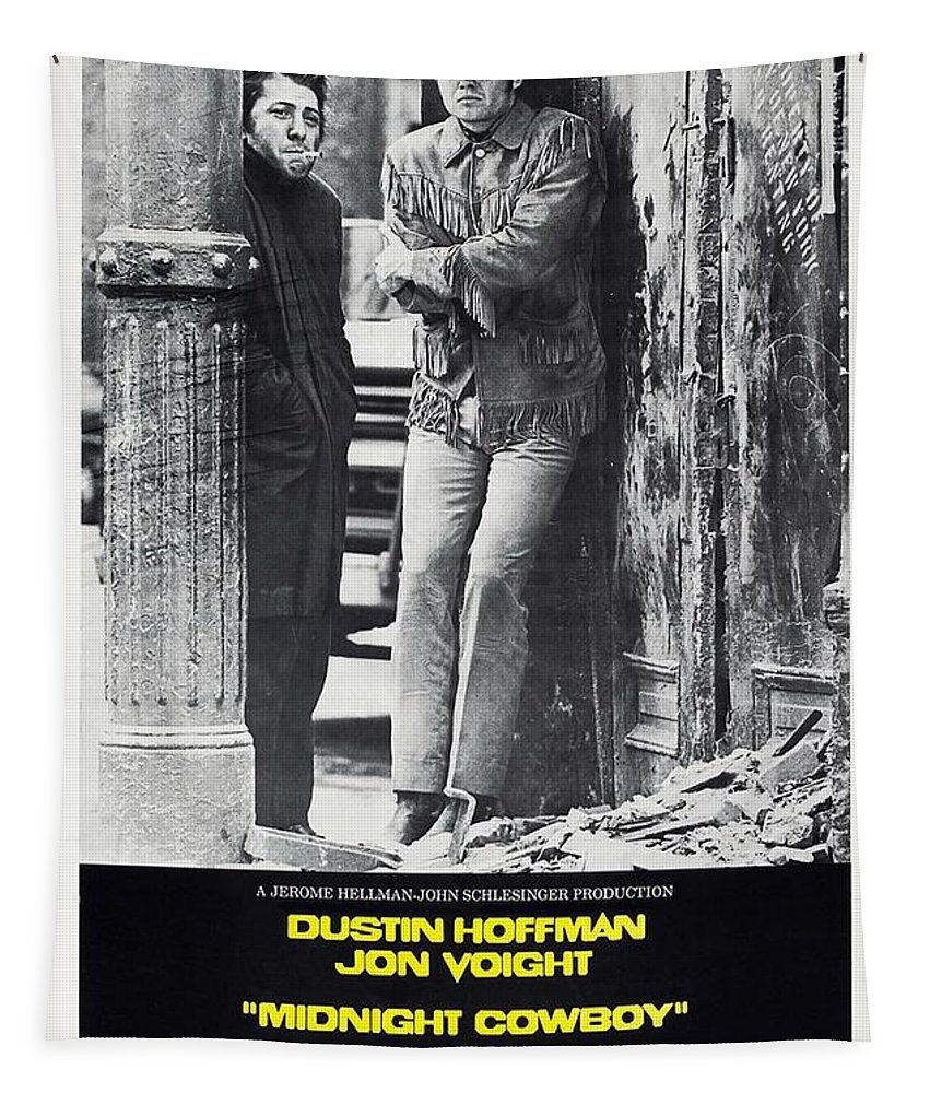 Midnight Cowboy Tapestry featuring the photograph Midnight Cowboy by Movie Poster Prints