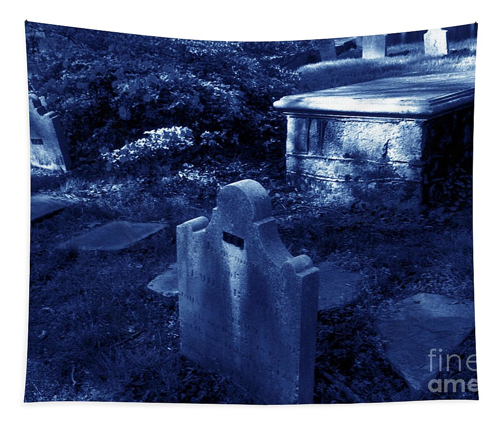 Blue Toned Tapestry featuring the photograph Midnight Rest by Paul W Faust - Impressions of Light