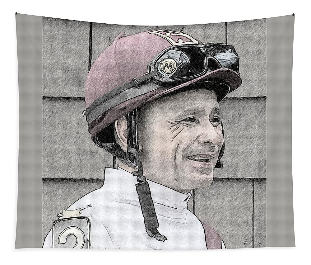 Mike Smith Tapestry featuring the photograph Mike Smith Portrait by Alice Gipson
