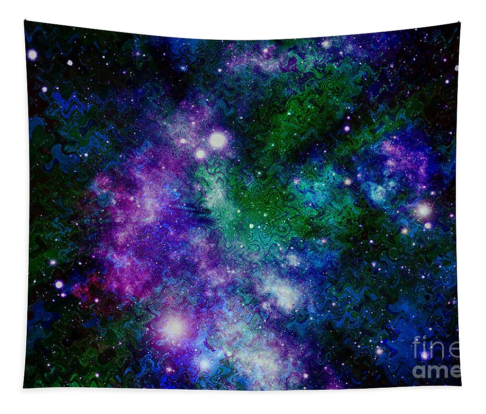 Milky Way Tapestry featuring the photograph Milky Way Abstract by Carol Groenen