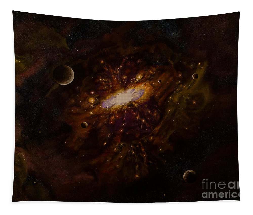 Painting Tapestry featuring the painting Milky Way by Zina Stromberg