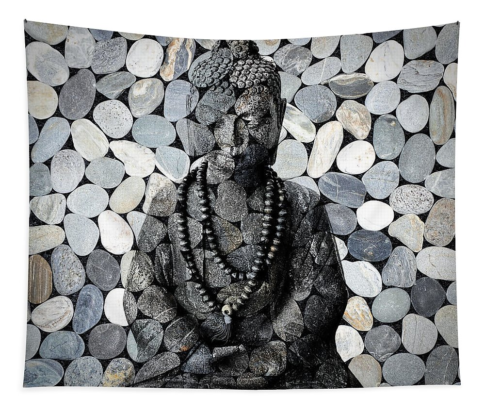 Buddha Tapestry featuring the photograph Mineral Buddha by Delphimages Photo Creations