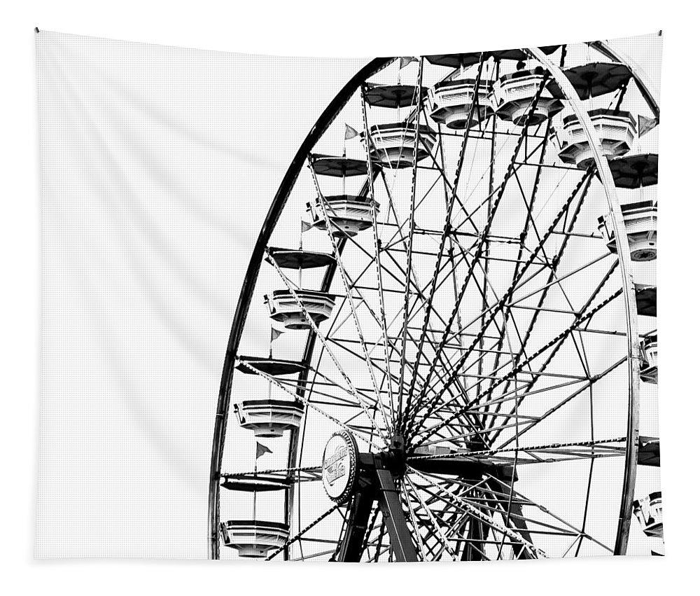 Wheel Tapestry featuring the photograph Minimalist Ferris Wheel - Square by Jon Woodhams