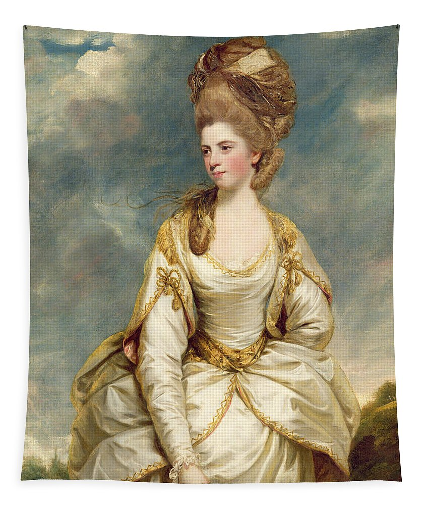 Miss Tapestry featuring the painting Miss Sarah Campbell by Sir Joshua Reynolds
