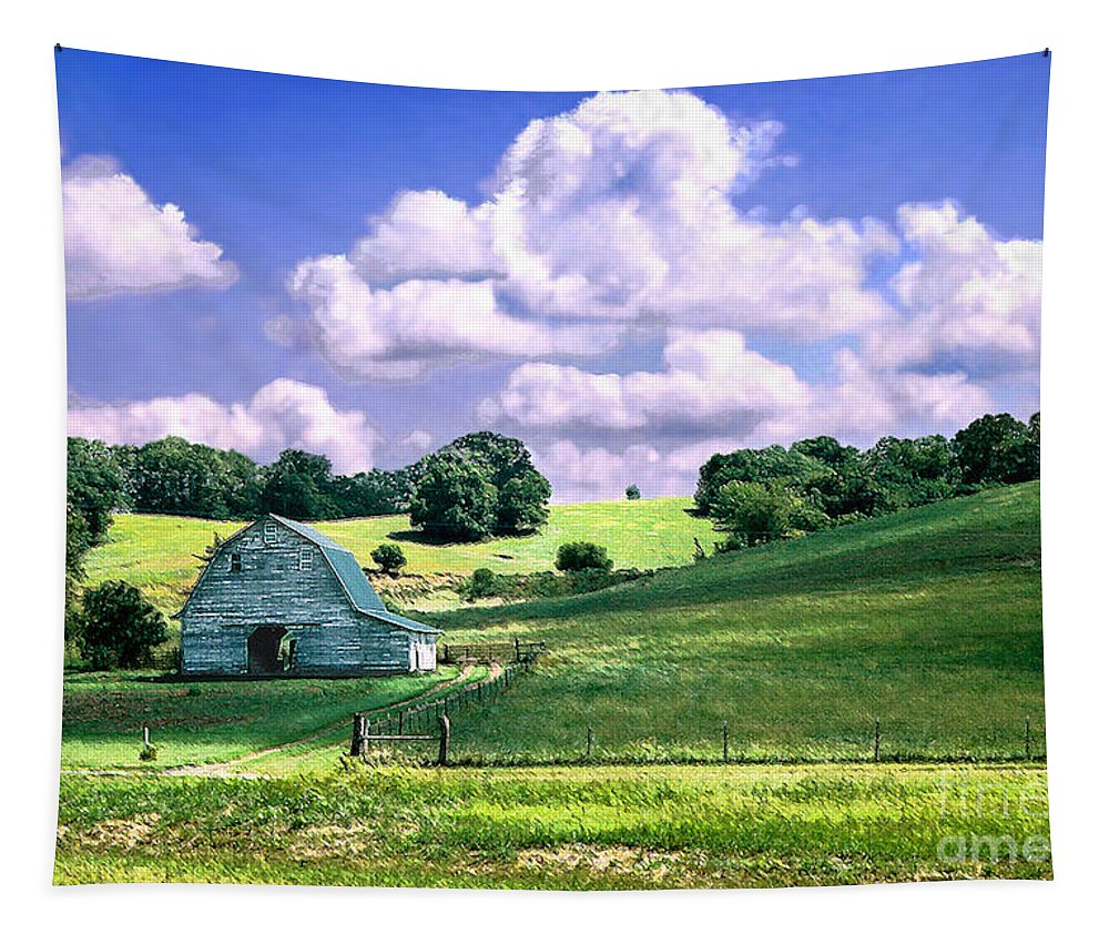 Landscape Tapestry featuring the photograph Missouri River Valley by Steve Karol